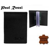 Kaarditasku 718-GPL BLACK, PAUL ROSSI, Kaarditaskud ja visiitkaardihoidjad