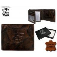 Meeste rahakott N992-BCL Brown, ALWAYS WILD, Nahast rahakotid