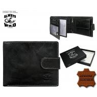 Meeste rahakott N992L-BCL Black, ALWAYS WILD, Nahast rahakotid