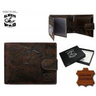 Meeste rahakott N992L-BCL Brown, ALWAYS WILD, Nahast rahakotid