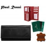 Naiste rahakott 1102-MTNL BLACK, PAUL ROSSI, Nahast rahakotid