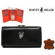 Naiste rahakott Harvey Miller Polo Club 3820-PL10 Black, HARVEY MILLER, Nahast rahakotid