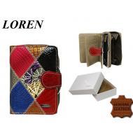 Naiste rahakott 54034-RCL Khaki, LOREN, Nahast rahakotid