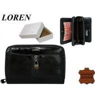 Naiste rahakott 55025-CDL Black, LOREN, Nahast rahakotid