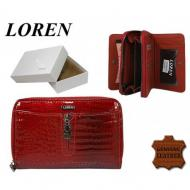 Naiste rahakott 55025-RSL RED, LOREN, Nahast rahakotid
