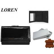 Naiste rahakott 55282-RSL Black, LOREN, Nahast rahakotid
