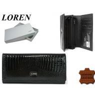 Naiste rahakott 55288-RSL Black, LOREN, Nahast rahakotid