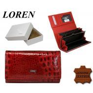 Naiste rahakott 60001-CAL Red, LOREN, Nahast rahakotid