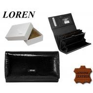 Naiste rahakott 60001-RSL Black, LOREN, Nahast rahakotid