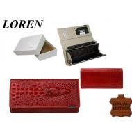 Naiste rahakott 72033-RSL Red, LOREN, Nahast rahakotid