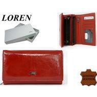 Naiste rahakott 72035-CDL Red, LOREN, Nahast rahakotid