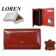 Naiste rahakott 72035-PSL Red, LOREN, Nahast rahakotid