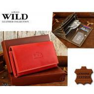Naiste rahakott D09-MHL RED, ALWAYS WILD, Nahast rahakotid