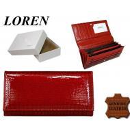 Naiste rahakott DL-13-RS Red, LOREN, Nahast rahakotid