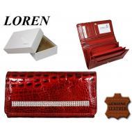 Naiste rahakott DL-4-CA-CRYL Red, LOREN, Nahast rahakotid