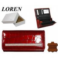 Naiste rahakott DL-4-CB-CRYL Red, LOREN, Nahast rahakotid