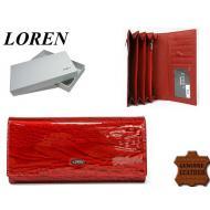 Naiste rahakott GD27-RNL Red, LOREN, Nahast rahakotid