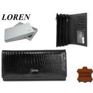 Naiste rahakott GD27-RSL Black, LOREN, Nahast rahakotid