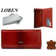 Naiste rahakott GD27-RSL Red, LOREN, Nahast rahakotid