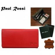 Naiste rahakott N20-GPL RED, PAUL ROSSI, Nahast rahakotid