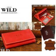 Naiste rahakott N20-MHL RED, ALWAYS WILD, Nahast rahakotid