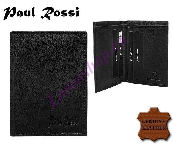 6b19c6fd01b Kaarditasku - rahakott 720-GPL BLACK, PAUL ROSSI, Nahast rahakotid